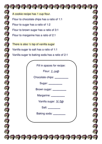 Ratio Recipe! - introduction activity