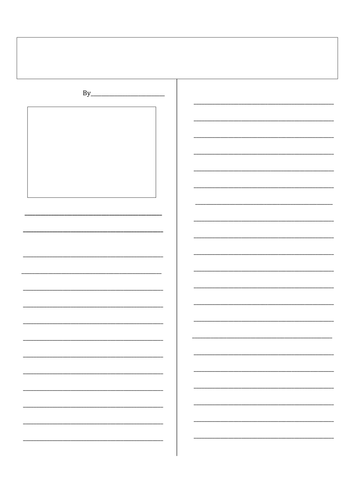 Newspaper Template By Jkd500 Teaching Resources Tes