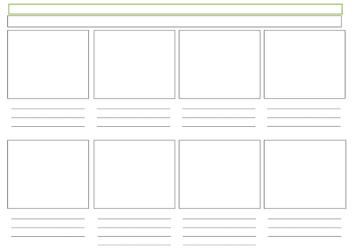 Storyboard X 8 Boxes By Suzannemh Teaching Resources Tes