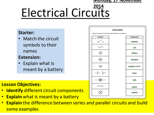 AQA P2 Electrical Circuits Basics by minimayfair633 - Teaching ...