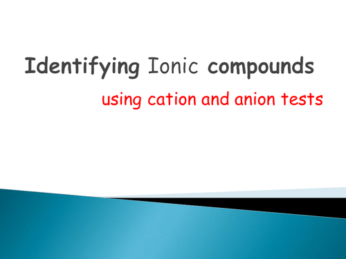identifying unknown ions and cations To identify ions present in unknown solutions using separation methods the foregoing separations of the cations into groups and the specific tests for identification of the individual ions are described in more detail in the lab procedure and flow diagram.