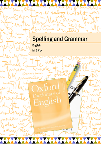 Spelling and Grammar Pack