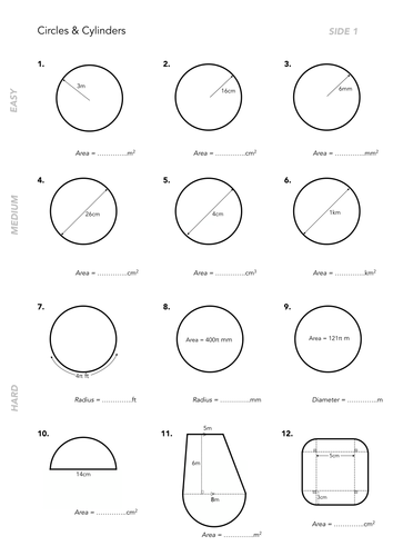 Volume of Cylinders worksheets by jwmcrobert - Teaching Resources ...