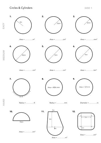 Volume Of Cylinders Worksheets By Jwmcrobert Teaching