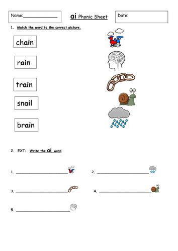 Ai Worksheet Phase 3 Teaching Resources