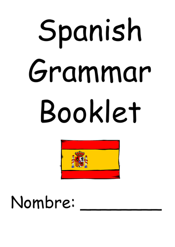 GCSE SPANISH BOOKLET | Teaching Resources