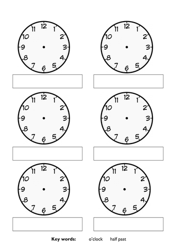 Blank Clock Faces By Ambermariejersey Teaching Resources