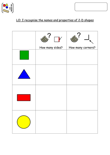 Identifying 2-D shapes