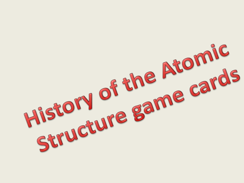 history of the atom happy families game