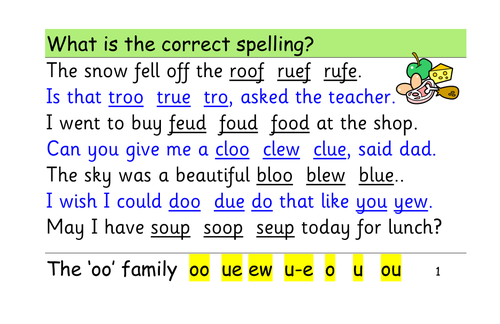 Phase 5/6: alternative spellings: ai ee igh oa oo by trummy13 ...