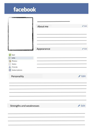 BEST Blank Facebook Template By Scarter21