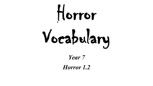 Horror Vocabulary Lesson Plan