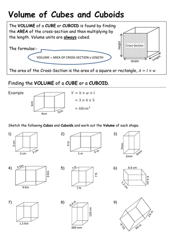 Volume of Cuboids and Triangular Prisms