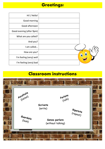 Greetings classroom instruction lesson italian by smatters greetings classroom instruction lesson italian by smatters teaching resources tes m4hsunfo