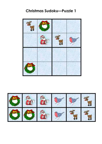 Christmas Sudoku.Halloween Sudoku Christmas Puzzle