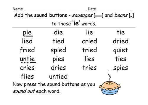 Letter Words With Ie In Them