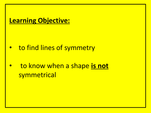 lines of symmetry of 2d shapes by gepocock teaching resources tes