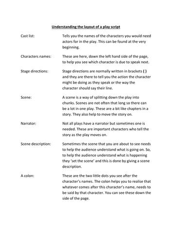 writing a good play script