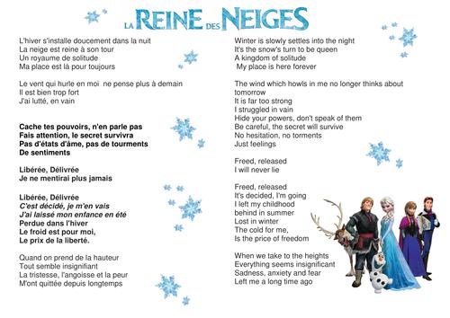 FROZEN FRENCH CHRISTMAS Liberée, Deliverée