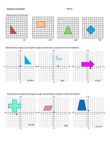 Rotation Worksheet Level 5-6 by brodieburton - Teaching Resources ...