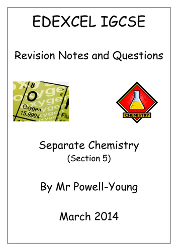 IGCSE Chemistry Revision Booklets