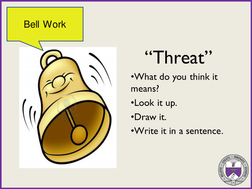 Using verbs and paragraphs to increase tesion