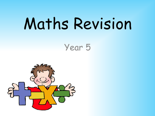 Revision PowerPoint for KS2 Maths