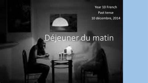 Déjeuner du Matin, by Jacques Prévert