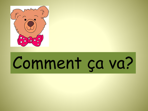 Basic Greetings: Practising various answers to, 'Comment ça va?'