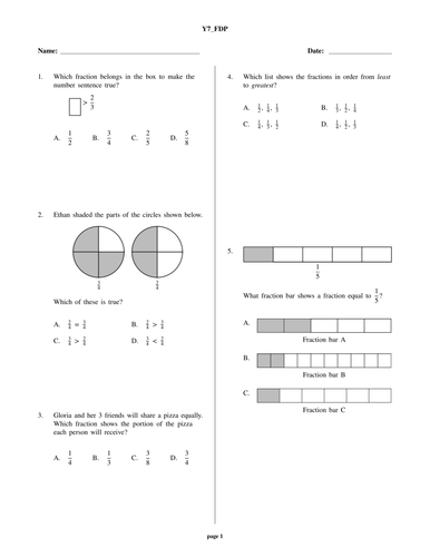 yr 7 algebra and fractions test by prabhleenkaur. Black Bedroom Furniture Sets. Home Design Ideas