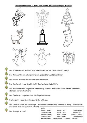 Religiöse Weihnachtsbilder.Christmas Tree Colouring Word Sheet By Sarah277 Teaching Resources