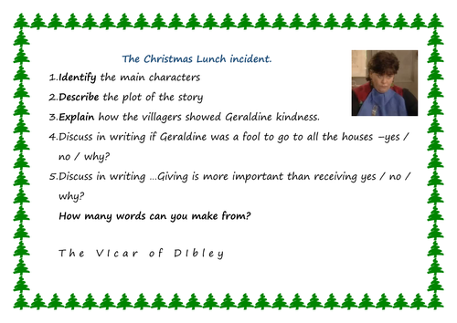 Vicar of dibley Christmas lunch