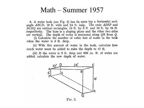 Math Summer 1957 Q8
