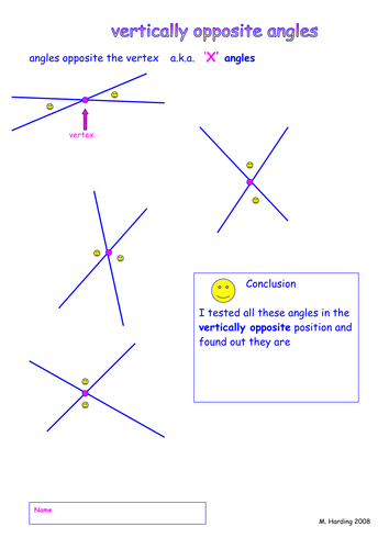 Discover relationships: angles round a point; and parallel lines