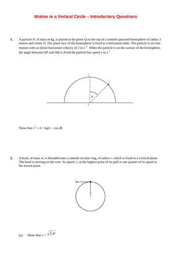 further maths worksheet vertical circular motion by srwhitehouse teaching resources tes. Black Bedroom Furniture Sets. Home Design Ideas