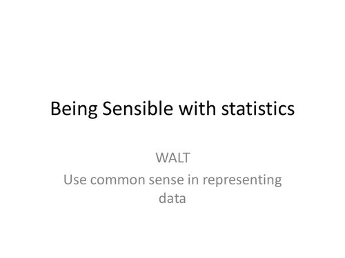 Data handling/graphs: Starter or group discussion