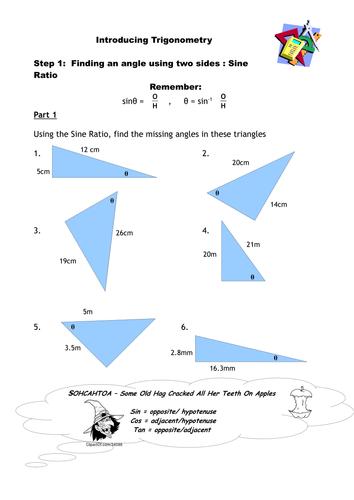 Trigonometry - finding Sine of angles