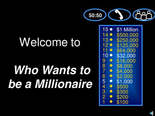 Millionaire math game