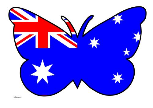 Butterfly Themed Australian Flag