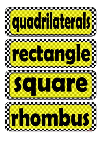 Grade 6 - Word Wall (Quadrilaterals)