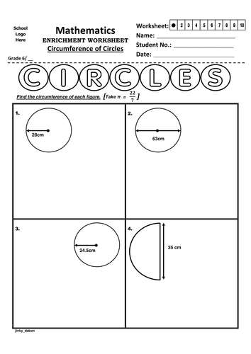 Grade 6 Circumference of Circles