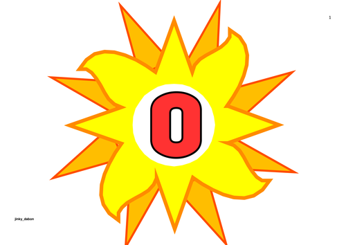 Sun Themed Numbers 0-50