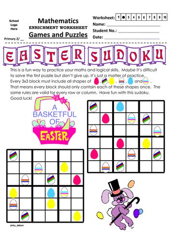 3x3 Easter Sudoku