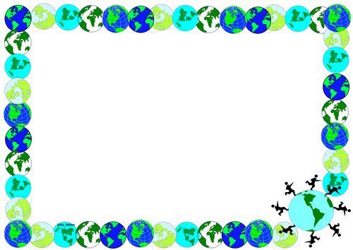 Earth Day Themed Lined Paper and Pageborders