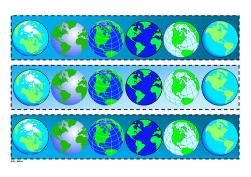 Earth Day Themed Cut-out borders