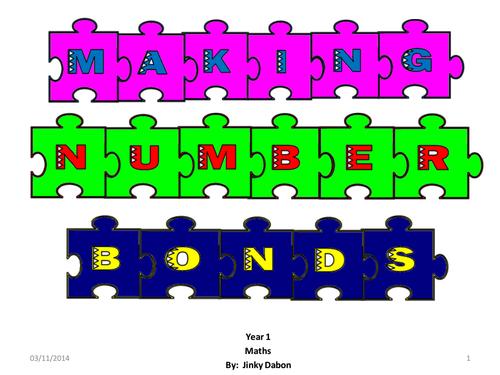 Grade 1 - Making Number Bonds