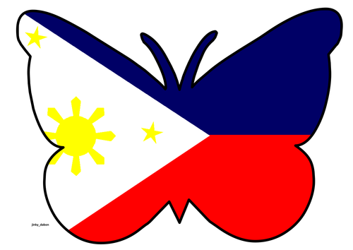 Butterfly Themed Philippine Flag