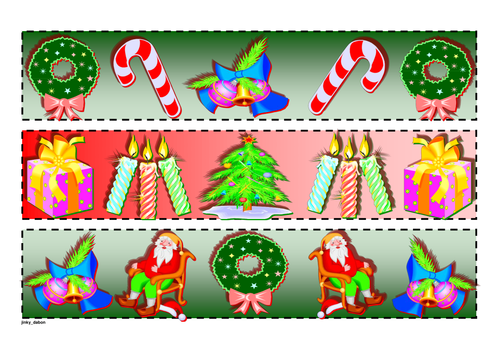Christmas Themed Cut-out Borders