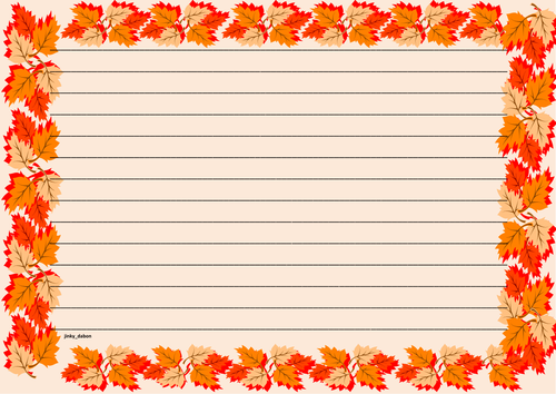 Thanksgiving Themed Lined Paper and Page borders