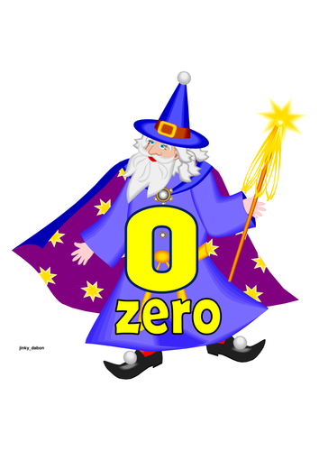 Halloween Wizard Themed Numbers 0-20 with Words